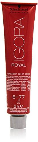 Schwarzkopf IGORA Royal Premium-Haarfarbe 6-77 dunkelblond kupfer extra, 1er Pack (1 x 60 g)