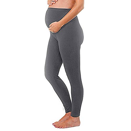 FIRSS Leggings fur Schwangere Lang Umstandsmode Hose Maternity Umstandsleggings Stretch Schwangerschaftsleggings Yogahose schwarz Slim Strumpfhose Skinny Blickdicht Jeans Qualität Umstandshose