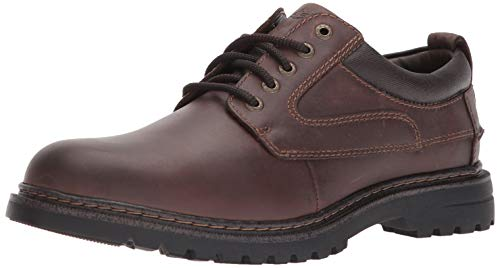 Dockers Mens Warden Leather Rugged Casual Oxford Shoe with NeverWet, Red Brown, 13 W