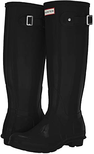 Hunter Original Tall Classic, Botas de Agua Unisex Adulto, Negro (Black), 36 EU