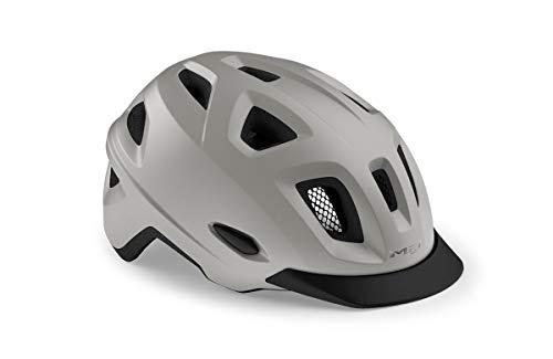 MET Urban Mobility - Casco de ciclismo, color gris, talla XL