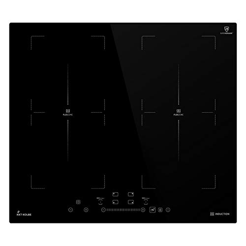 KKT KOLBE Induktionskochfeld 59cm / Autark / 7kW / 9 Stufen / 4 Zonen / 2 Flex-Zonen/Rahmenlos/TouchSelect Sensortasten/Booster/LED-Anzeige/BBQ-Funktion / IND5904FZ