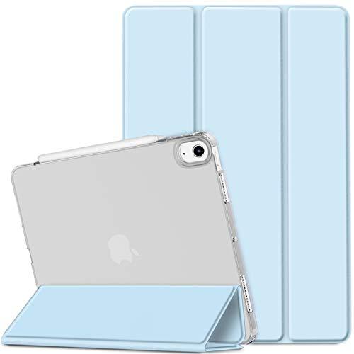 EasyAcc Cover Compatibile con iPad Air 4 Generazione/iPad 10.9 2020 Custodia[A2324/A2072/A2316/A2325], [Supporta Ricarica di Pencil 2] Smart Cover Sottile Leggero Traslucida Smerigliata -Blu Cielo