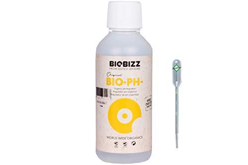 Weedness BioBizz Bio pH- Minus 250 ml - Natürlicher Biologischer pH-senker Grow Anbau Indoor Outdoor Dünger Flüssig