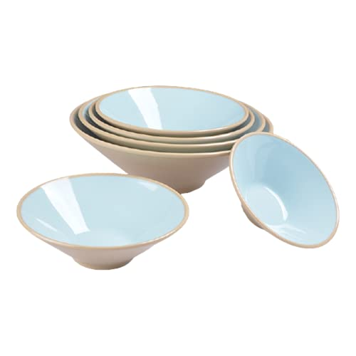 6Ciotola Ramen Giapponese, Set Di Ramen Bowl, Cucina Stoviglie, Insalatiera/Zuppiera/Ciotola Di Cereali,C