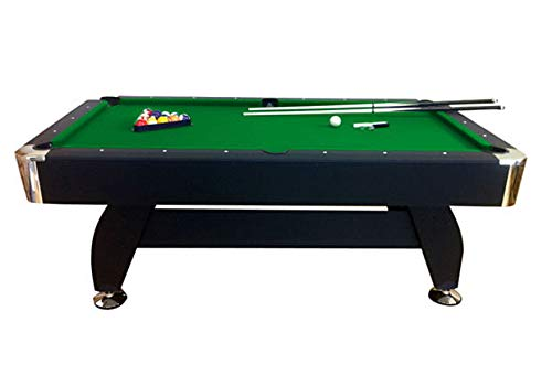 lanzoni Mesa de billar profesional gamuza verde 188 x 96 cm 7 pies ...