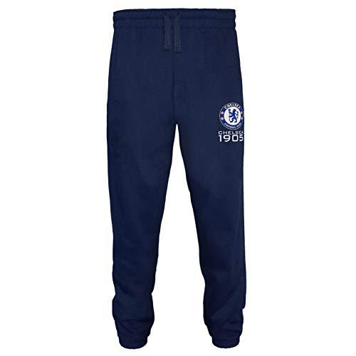 Chelsea FC - Herren Fleece-Jogginghose - Offizielles Merchandise - Geschenk für Fußballfans - Marineblau - M