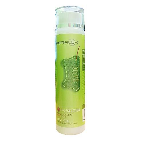 KERALUX Lederpflege, Pflegelotion Nubuk Leder, 250 ml. Regenerierende Pflege mit Feuchtigkeit, Rückfettung, Lichtschutz, Antioxidantien