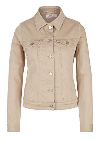 s.Oliver RED Label Damen Jeansjacke in Unicolor beige 36
