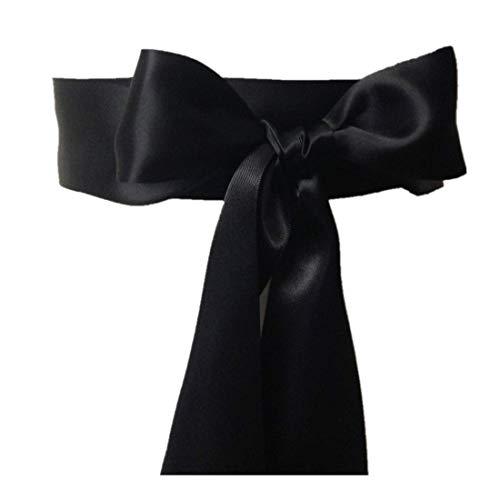 Wedding Sash Bridal Belts Simple Classic Silk Ribbon Sash, Black, Size One Size