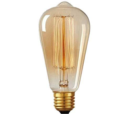 Edison Vintage Glühbirne, Gogotool E27 40W dimmbar Antike Retro Filament Lampe ST64, Ideal für Nostalgie und Retro Beleuchtung im Haus Café Bar usw - 1 Stück