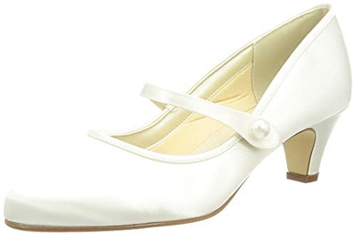 Elsa Coloured Shoes Damen Heather Pumps, Ivory/Creme, 36 EU