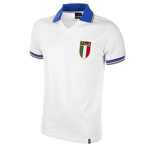 COPA Football - Camiseta Retro Italia 2º equipación años Mundial 1982 (XL)
