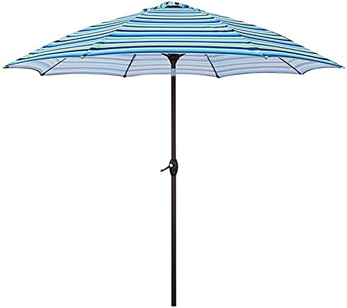 ZGYZ sombrilla de jardín, sombrilla de jardín, sombrilla de Patio, toldo, balcón, terraza, café de Playa, albergue, protección UV, Franja Azul, sombrilla de Mercado, decoración de jardín