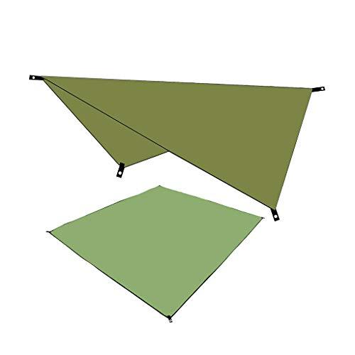 Blingko Wasserdichter Sonnenschutz UV Multifunktionales Canopy Camping Sonnendach im Freien Feuchtigkeitsbeständige Matte Trekking Tarp Leicht 210X150CM Sonnensegel (Armeegrün)
