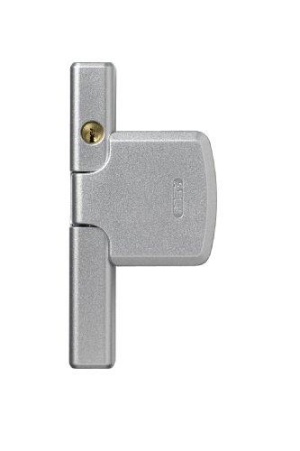 ABUS Fenster-Zusatzsicherung FTS206 AL0125 - Fensterschloss mit zweistufiger Verriegelung, gleichschließend - ABUS-Sicherheitslevel 10 - 44473 - Silber