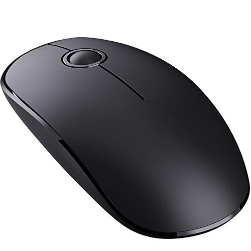 VicTsing Wireless Mouse, 2.4G Slim Noiseless Mouse with USB Receiver, High Accuracy Ergonomic Cordless Computer Mouse for PC, Computer, Laptop, Chromebook, Notebook, Mac (Black)