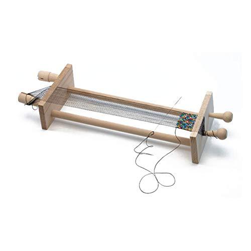 Pracht Creatives Hobby 3331-03 - Perlen - Webrahmen aus Holz, zum Perlenfädeln, zerlegt, mit Anleitung, zum Weben von Freundschaftsbändern und Armbändern