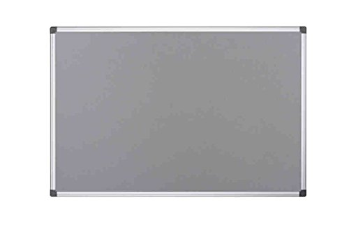 Bi-Office Filztafel Maya, Mit Aluminiumrahmen, Graue Filzoberfläche, Zum Gebrauch Mit Pinnnadeln, Pinnwand, 60 x 45 cm