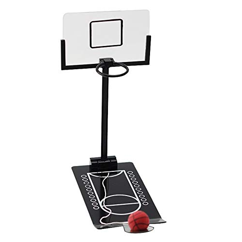 Yxp Mini-Desktop-Basketball-Spiel-Klassiker Miniatur Basket Ball Shootout Tabelle Top Office Schießen Spielzeug-Kind-Sport-Fans, Decompression Spielzeug, Lernspiele,Schwarz