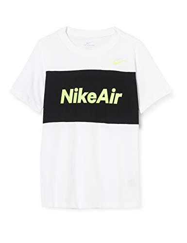 NIKE B NSW Air tee SS Camiseta de Manga Corta, Niños, White/Black,...