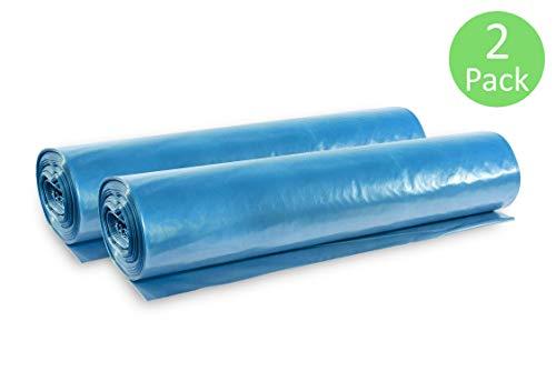 Hypafol Müllsäcke, 20 St. extra starke blaue Müllbeutel mit 120 Liter Fassungsvermögen, 700 x 1.100 mm, Typ 150 mit 100 my, extra reißfest, ideal für Gartenabfälle, Bauschlussreinigungen, 2er Pack