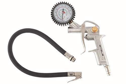Calibrador De Pneus Pneumatico, Encaixe Rosca 1/4 Npt Stels