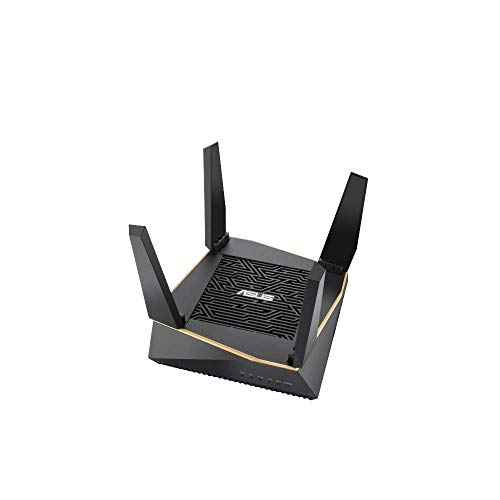 ASUS AX6100 WiFi 6 Gaming Router (RT-AX92U) - Tri-Band Gigabit Wireless Internet Router, Gaming & Streaming, AiMesh Compatible, Included Lifetime Internet Security, Adaptive QoS