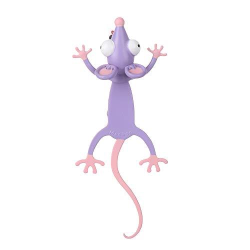Niedliche Lesezeichen, verrückte 3D-gequetschte Lesezeichen, PVC-Lesezeichen im Cartoon-Animals-Stil, für Kinder Mädchen Jungen(mouse)