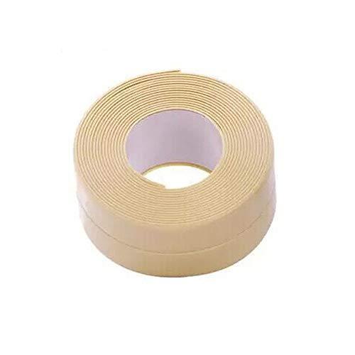 Haus Dekoration 3,2m x 38mm Badezimmer Dusche Spüle Badewanne Dichtungsband Band aus weißem PVC Selbstklebende wasserdichte Wandaufkleber for Badezimmer Küche (Color : Beige, Size : 3.2mx3.8cm)