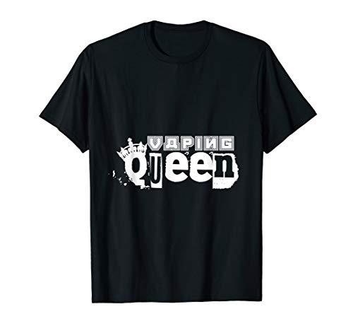 Vaping Queen | Dampfen E-Zigarette Vaper Dampfer T-Shirt