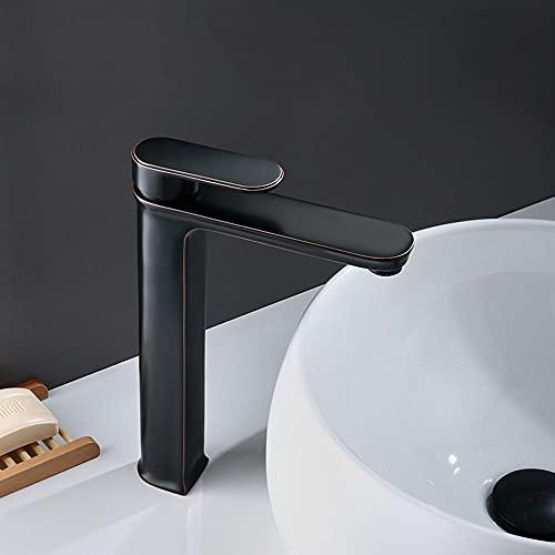 HS-01 Grifo de baño Nordic Negro sobre fondo de contador bajo el mostrador de la cuenca Faucet Cabineta de baño lavabo lavabo lavabo caliente y frío soltero handle grifo (Size : C)