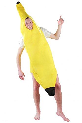 witziges Bananenkostüm Kostüm für Erwachsene Faschingskostüme Männer Banane Bananenanzug Fasching Bananen Frucht Obst Anzug Bodysuit Karnevalskostüme Größe M