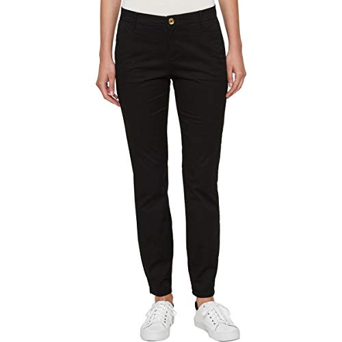 Tommy Hilfiger Womens Montauk Chino Ankle Skinny Pants Black 2