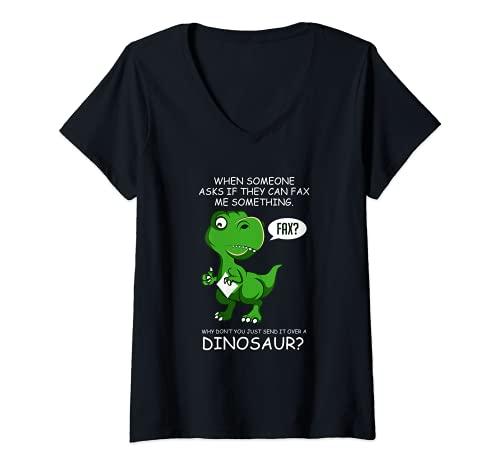 Femme Fax Dinosaur hardworker T-...
