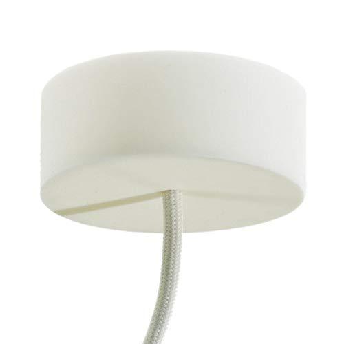 creative cables Lampenbalachin Kit aus Silikon - Weiß