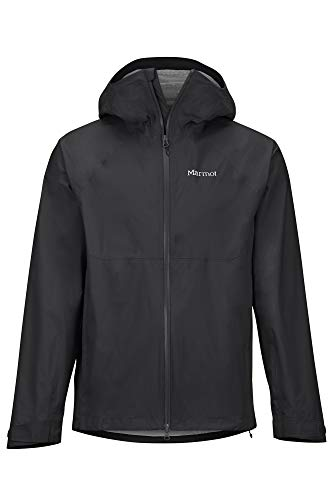 Marmot Herren Hardshell Regenjacke, Wasserdicht, Winddicht & Atmungsaktiv PreCip Stretch Jacket, Black, L, 41130