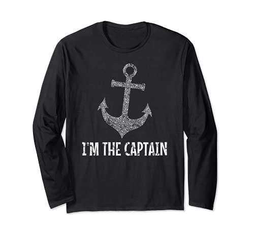 Vela Ancla Capitán Soy el Capitán Barco Marítimo Mar Manga Larga