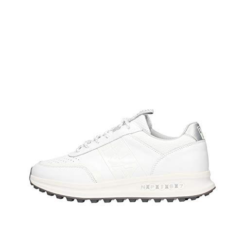 NAPAPIJRI Scarpe Sneakers Uomo Modello Slate in Pelle Bianca con Logo Laterale. Fondo in Gomma Antiscivolo. N.44