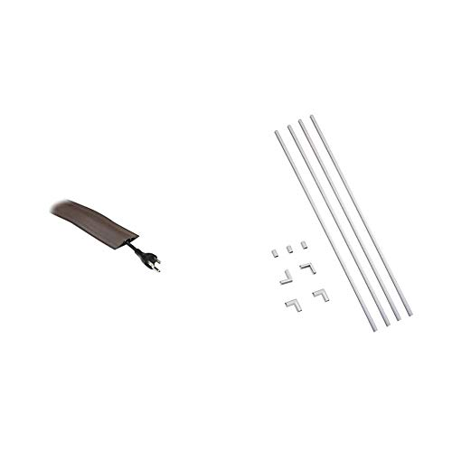 Wiremold Floor Cord Management Kit & Legrand - Wiremold CMK10 CordMate, Cover Kit On Wall Management, Hide and Organize a Single Cord or Cable at Home or Office, Paintable