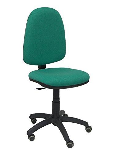 Piqueras y Crespo 04CP - Sedia ergonomica da ufficio, con meccanismo di contatto permanente, regolabile in altezza e ruote per parquet Verde