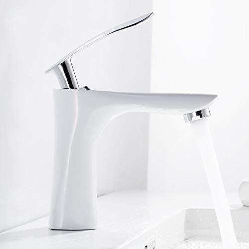 Baño Mezclador alto Grifos Fregadero Grifo Cascada Encimera Blanco Negro Agua fría y caliente Manija de un solo orificio Cocina para el hogar