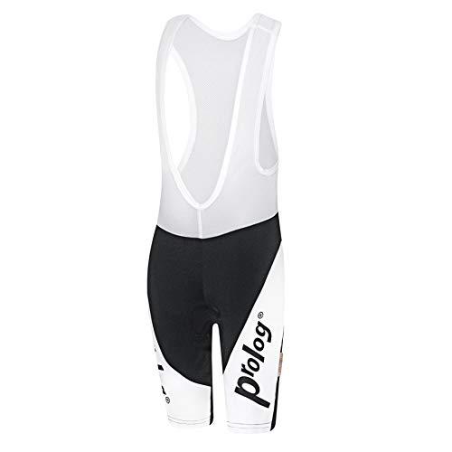 prolog cycling wear Kinder Fahrradhose gepolstert für Jungen, Radhose mit Träger Größe 122, 128, 134, 140, 146, 152, 158, schwarz weiß