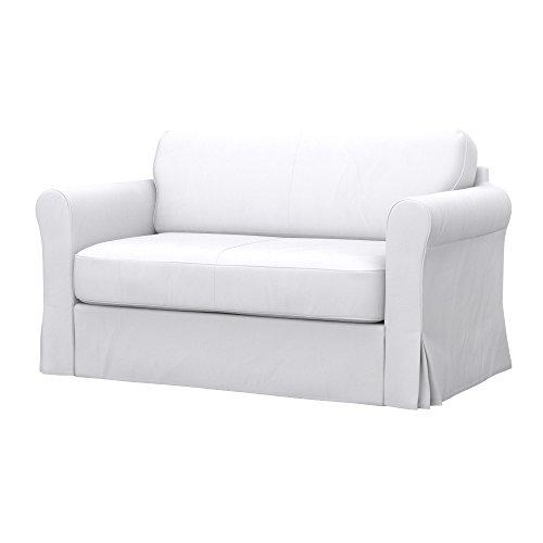 Soferia - IKEA HAGALUND Funda para sofá Cama, Eco Leather White