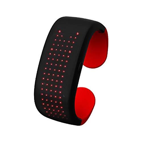 UKtrade La pulsera de la exhibición de la luz LED aumenta los apoyos para la noche corriendo suministros de fiesta 7 (B)