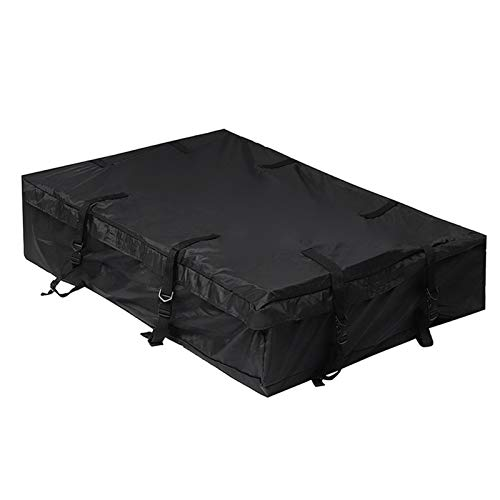 Waterproof Car Roof Top Bag, Travel Cargo Luggage Carrier, Black 160 * 100 * 30cm Super-Large Ployester Top Luggage Rack Cargo Trunk
