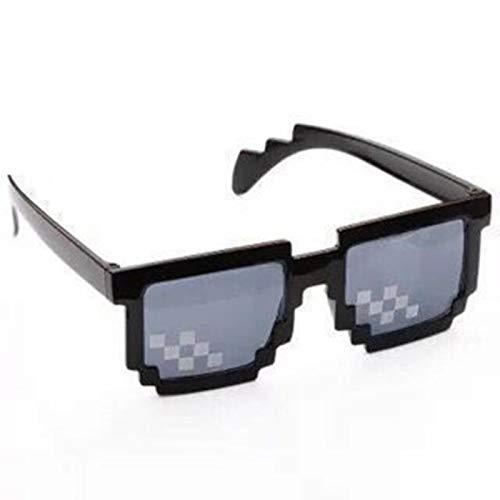 UKKD Pixelated Gafas de sol para hombre y mujer Uv400 Mosaic Party estilo vintage gafas de sol unisex regalo gafas