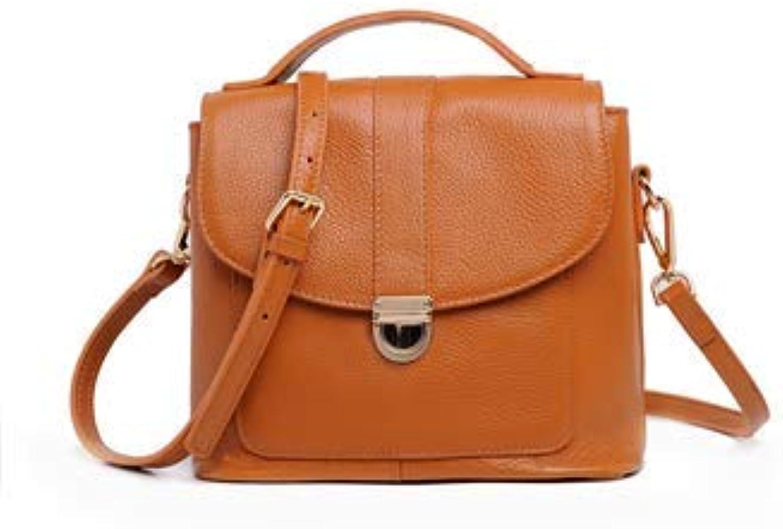 Bloomerang Genuine Leather Women Messenger Bags Crossbody Bags High Quality Fashion Female Shoulder Bags Women Handbags Tote Bag HB30 color Brown