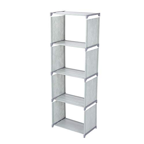 Estante pequena prateleira prática inclinada multi-camadas Móveis de escritório para casa para quarto e sala de estar(cinza)