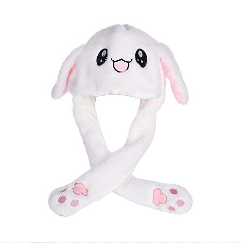 MakeupLI Winter warme Plüschhut, bewegliche Ohr Kaninchen Hut, Erwachsene Kinder...